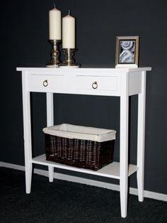 Telefontisch Konsolentisch Wandtisch Beistelltisch Flurtisch weiß massiv Holz | eBay