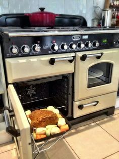 Falcon oven - love these if not doing wall ovens and cooktops. Kitchen Oven, Kitchen Pantry, Kitchen And Bath, Kitchen Appliances, Kitchen Ideas, Kitchens, Oven Design, Earthship, Sustainable Living
