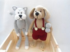 Lovely Pet crochet pattern (cat/puppy)