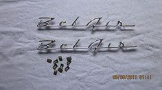 1955-56 #chevy belair #quarter panel script #emblems ,  View more on the LINK: 	http://www.zeppy.io/product/gb/2/370957438008/