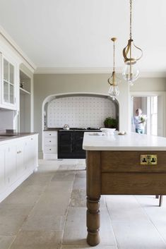 Artichoke designed period traditional Georgian kitchen island for an English country house. Visit our website for more images of this bespoke project.