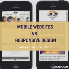 There is a clear front-runner! >>> Mobile websites vs. Responsive Design