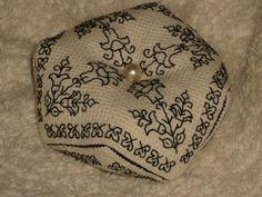 English Tudor Blackwork Unique Biscornu Pincushion  by RedCatt, £8.99