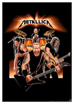 Metallica Poster, available at poster is printed on matt coated 350 gram paper. Metallica Band, Metallica Albums, James Hetfield, Iron Maiden, Pink Floyd, Woodstock, Hard Rock, The Beatles, Cool Umbrellas