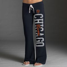 WANT! Chicago Bears Women's Navy '47 Brand Pep Rally Pants