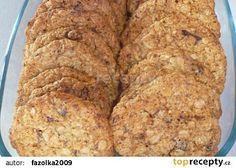 Vločkové zdravé sušenky recept - TopRecepty.cz Oat Cookies, Crinkles, Low Carb Recipes, Health Recipes, Banana Bread, Food And Drink, Sweet, Desserts, Fitness