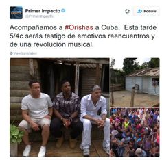 """Univision's hit show """"Primer Impacto"""" joins the ORISHAS in Cuba, reuniting them for the first time in 7 years!"""