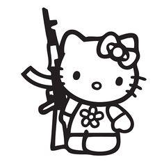 Hello Kitty Die Cut Vinyl Decal PV927