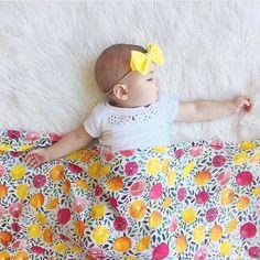 Summer naps!  @mrsjessicaroberts  shop Summer Citrus Bamboo Muslin at spearmintLOVE.com