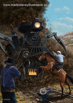 Monster Train attacking Cowboys