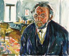 The Athenaeum - Self Portrait after the Spanish Flu (1919) (Edvard Munch - )