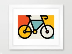 Dribbble - Color Bike by Allan Peters Bicycle Tattoo, Bicycle Art, Inspiration Logo Design, Icon Design, Design Ideas, Bike Illustration, Graphic Design Illustration, Bike Decorations, Bike Icon