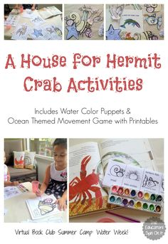 A House for Hermit Crab Activities inspired by Eric Carle for a fun summer book activity