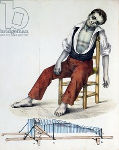 Cholera Morbus, from 'Relacao, Historica, Statistica e Medica da Cholera-Morbus' by Francisco d'Assis de Souza Vaz, 1833 (coloured engraving).