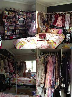 Kawaii and Otaku Rooms.  This kind of reminds me of CutiePieMarzia.