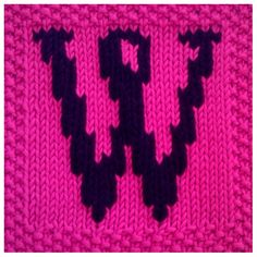 PDF Knitting pattern capital letter W afghan / blanket square - instant download after purchase         September 01, 2014 at 08:50PM