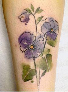 Robert Bunda watercolor flower tattoo | Eastern Europe, wow ...