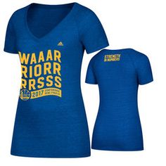 241df43091c Golden State Warriors adidas Women s 2017 NBA Playoffs Western Conference  Semis Tri-blend V-neck Tee - Royal
