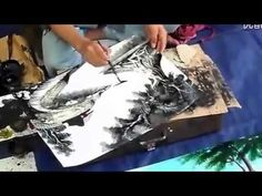 Unbelievable Chinese Street Painter!! Super fast drawing and amazing works! - YouTube