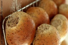 Bułeczki z makiem Bread And Pastries, Breads, Biscuits, Good Food, Rolls, Favorite Recipes, Sweets, Vegetables, Brot