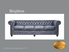Chesterfield Showroom Brighton 4 Vintage - 4-seater