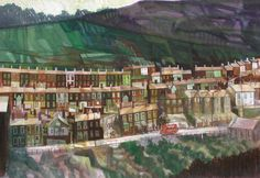 Elwyn Thomas (Welsh Artist): Ferndale Road, Tylorstown, Rhondda. My Family History, Live In The Present, Cymru, Urban Life, Art For Art Sake, South Wales, Abandoned Places, All Pictures, Paintings