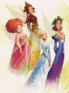 The Four Ministers of the Seasons of Pixie Hollow