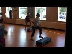 ▶ Intermediate step aerobics routine - YouTube