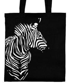 Zebra Jutebeutel Baumwolltasche Stoffbeutel Tragetasche