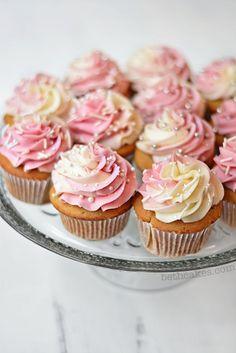 Maple pecan cupcakes with tiny buttermilk pancakes @ http://JuliesCafeBakery.com #cupcakes #recipe #cakes