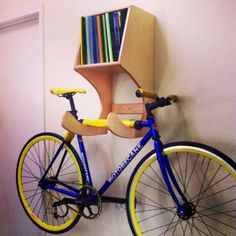 The Cthulhu Bike Hanger/Book shelf by HedgepathWoodworks on Etsy, $215.00