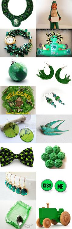 Let's Go Green by Jo Stamatakis on Etsy--Pinned with TreasuryPin.com  #greengiftguide