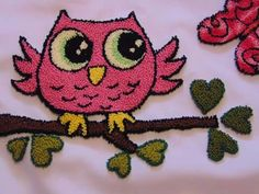 Crewel Embroidery, Embroidery Patterns, Punch Needle Patterns, Crochet Hats, Stitches, How To Make, Diy, Russian Embroidery, Towels
