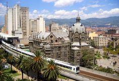 View of the Medellin Metro and Plaza Botero from Hotel Nutibara, Medellin