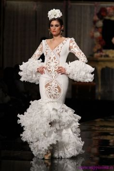 Flamenco Costume, Flamenco Dancers, Flamenco Dresses, Spanish Style Weddings, Spanish Wedding, 2015 Fashion Trends, Edwardian Dress, Frou Frou, Mermaid Gown