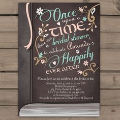Once Upon a Time Bridal shower invitation by Anietillustration