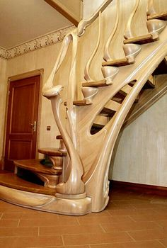 design - 40 Amazing Wooden Stairs for Your Home Amazing Architecture, Architecture Details, Interior Architecture, Interior Design, Design Art, Grand Staircase, Staircase Design, Stair Design, Escalier Art