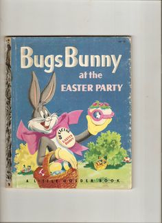 Vintage Little Golden Book Bugs Bunny