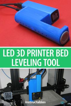This Printer Bed Leveling Tool uses a Pulse Induction Metal Detection Sensor and a LED Bar Graph to show the relative distance from the Print Head to the hotbed. 3d Printer Designs, 3d Printer Projects, Diy Projects, Diy Electronics, Electronics Projects, Useful Arduino Projects, 3d Printing Diy, 3d Printing Machine, Types Of 3d Printers