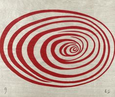 b22-design:  Louise Bourgeois - 'spirals' - woodcut - MoMa Collection
