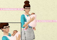 Edit of shmoopiesims baby carrier plus poses - Sims 3 Downloads CC Caboodle