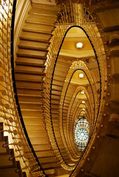 Grand staircase, Bristol Palace Hotel.