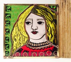 Mini icon # 5 glass painting Icon 5, Stained Glass, Glass Art, Princess Zelda, Mini, Painting, Fictional Characters, Jar Art, Painting Art