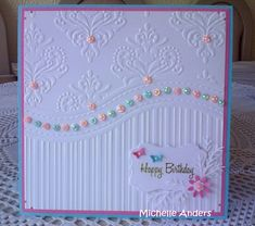 Michelle Anders: All-occasion 3-in-1 Embossing Folder & Stamp Set