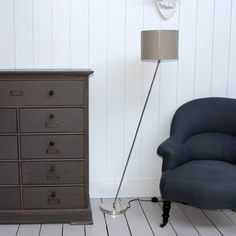 Love the chair fabric colour, Image of lamp from Graham and Green