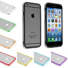 For iPhone 4S 5S 5C 6 6S Plus Crystal Clear Hybrid Soft TPU Bumper Case Cover | eBay