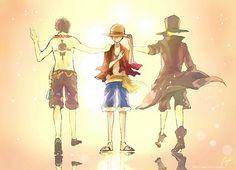 Tags: Anime, Fanart, ONE PIECE, Monkey D. Luffy, Portgas D. Ace, Sabo, ASL