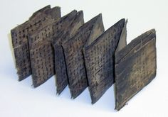 artpropelled: Palmleaf Manuscript: Woven palm leaves folded into a concertina structure.