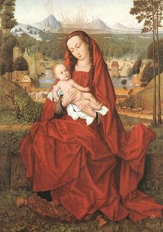 HANS MEMLING (1430 - 1494) |   Virgin and Child. Oil on wood. Diocesan Museum of the Cathedral, Burgos.