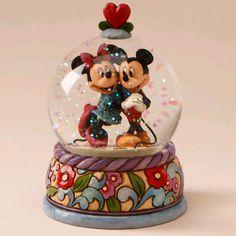 *Mickey & Minnie , Disney snow globe